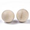 Natural Wooden Round BallWOOD-T014-25mm-2
