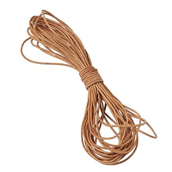Cowhide Leather Cord, Leather Jewelry Cord, Jewelry DIY Making Material, Round, Chocolate, 1mm