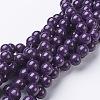 Natural Mashan Jade Round Beads StrandsX-G-D263-10mm-XS11-1