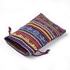 Polycotton(Polyester Cotton) Packing Pouches Drawstring BagsX-ABAG-S004-08C-10x14-3