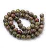 Natural Unakite Beads StrandsX-G-S259-14-8mm-2
