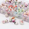 1 Box Ten Color Handmade Printed Porcelain BeadsPORC-X0003-01-2