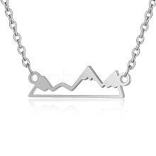201 Stainless Steel Pendant Necklaces NJEW-T009-JN140-40-1