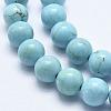 Natural Howlite Beads StrandsX-G-K244-02-8mm-01-3