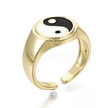 Brass Enamel Cuff Rings X-RJEW-S044-136-NF