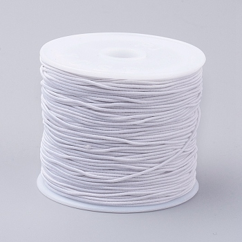 Elastic Cords, Stretchy String, for Bracelets, Necklaces, Jewelry Making, White, 0.6mm; 34~37m/roll