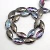 Faceted Electroplate Crystal Glass Horse Eye Beads StrandsEGLA-F071-M-2