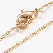 Brass Chain Necklaces Making MAK-L009-03G