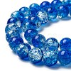 Baking Painted Crackle Glass Bead StrandsCCG-S001-8mm-16-3