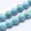 Natural Howlite Beads StrandsX-G-K244-02-8mm-01-1