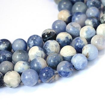 Natural Sodalite Round Bead Strands, 8~8.5mm, Hole: 1mm; about 47pcs/strand, 15.5inches