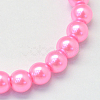 Baking Painted Pearlized Glass Pearl Round Bead StrandsX-HY-Q330-8mm-68-2