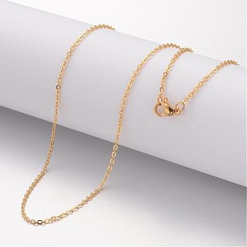 304 Stainless Steel Necklace Making, Cable Chains, with Lobster Clasps, Golden, 17.72