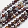 Round Natural Botswana Agate Bead StrandsG-I166-02-10mm-1