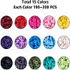 15 Colors Eco-Friendly Handmade Polymer Clay BeadsCLAY-JP0001-02-6mm-2