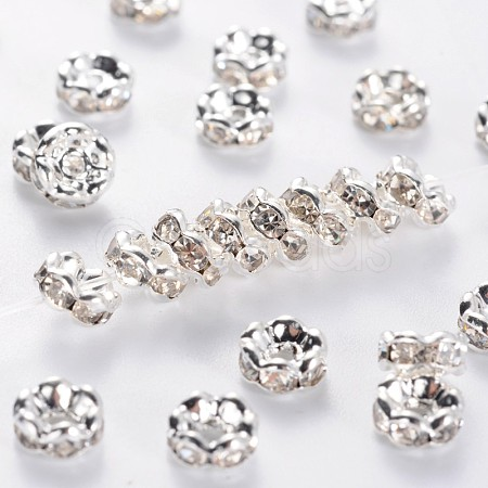 Brass Middle East Rhinestone Spacer BeadsRSB032NF-01-1