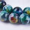 Natural White Jade Beads StrandsG-H1627-10MM-M-3