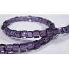 4~5mm Cube Transparent Purple Glass Beads StrandsX-GS4mm-C07-2
