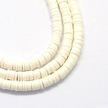 Environmental Handmade Polymer Clay Beads X-CLAY-R067-6.0mm-17