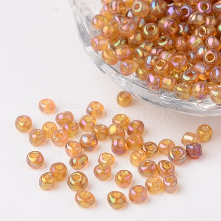 6/0 Transparent Rainbow Colours Round Glass Seed BeadsX-SEED-A007-4mm-162C-1