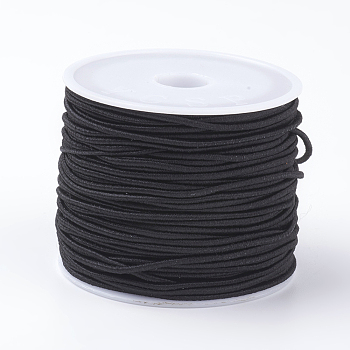 Elastic Cords, Black, 1mm; 18~20m/roll