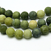 Round Frosted Natural TaiWan Jade Bead StrandsG-M248-8mm-02-1