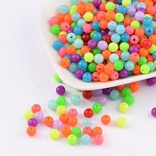 Fluorescent Acrylic Beads MACR-R517-6mm-M