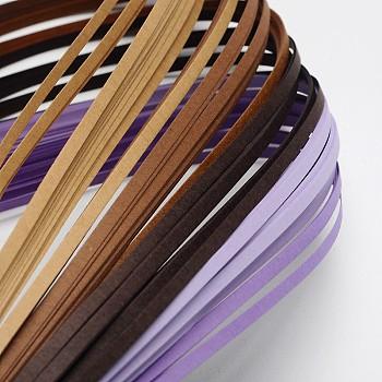6 Colors Quilling Paper Strips, Gradual Purple, 390x3mm; about 120strips/bag, 20strips/color