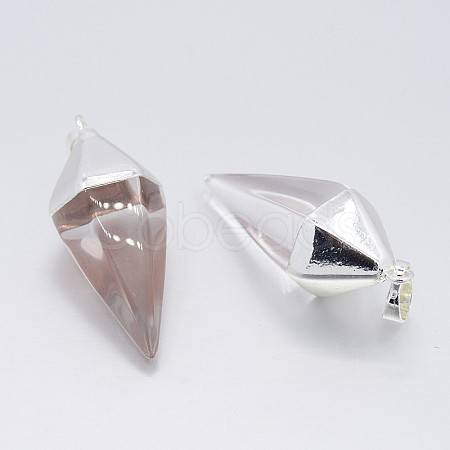 Cone Pendulum Gemstone PendantsG-N0057-20-1