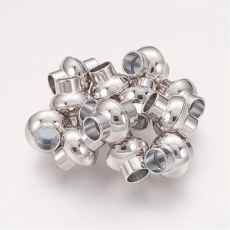 Brass Magnetic ClaspsKK-E428-P-NF-1