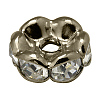 Brass Rhinestone Spacer Beads RB-A014-L8mm-01B-1